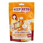 Keep Keto- Garlic Bread Crackers- 75g
