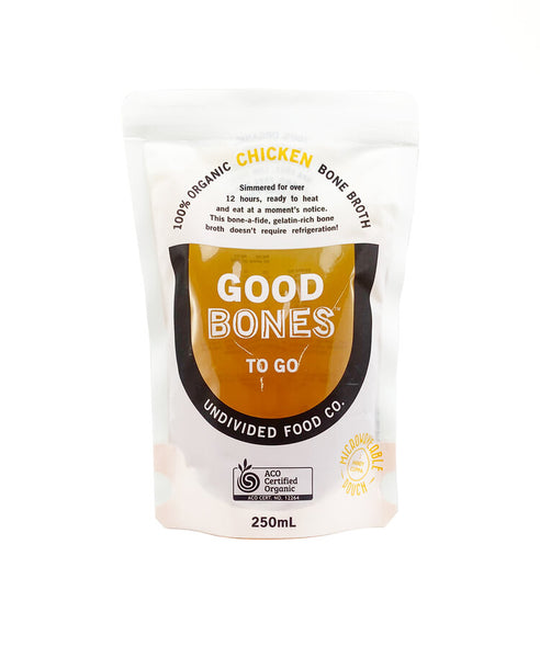 GOOD BONES™ TO GO 100% Certified Organic Chicken Bone Broth 250ml