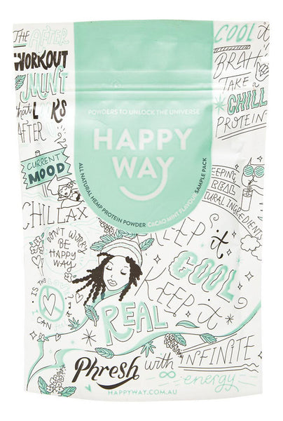 HAPPY WAY - Cacao Mint Hemp Protein Powder - 60g