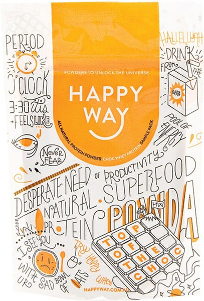 HAPPY WAY -Chocolate Whey Protein Powder - 60g