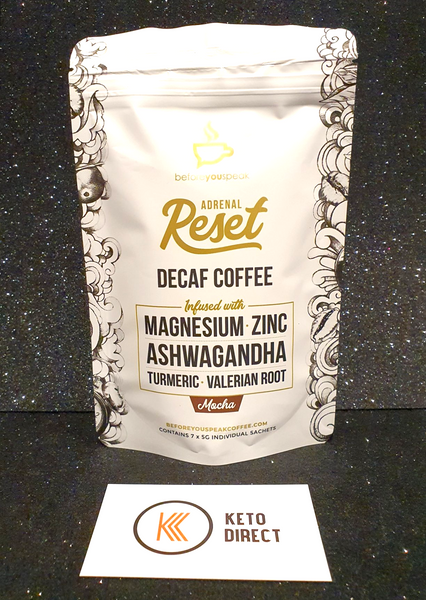 Before You Speak ONE - Adrenal Reset Mocha- Decaf Coffee 7 Serves