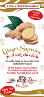 Little Zebra Ginger Supreme Dark Chocolate 85g