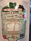 LITTLE ZEBRA CHOCOLATES- Dark Chocolate Crunch Buds  Mint 85g