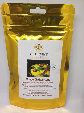 Gourmet Spice Kits- Mango Chicken Curry(50g)-12 Serves
