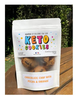 Delicious Low Carb- Keto Cookies Chocolate Chip with Pecan & Orange(100g)