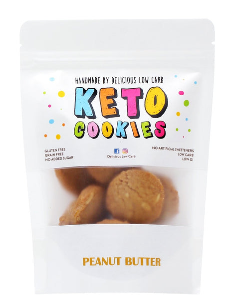Delicious Low Carb- Keto Cookies Peanut Butter(100g)