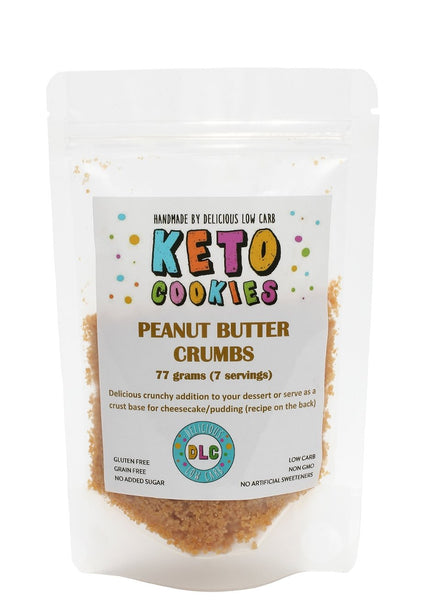 Delicious Low Carb- Keto Cookies Peanut Butter Crumbs(77g)
