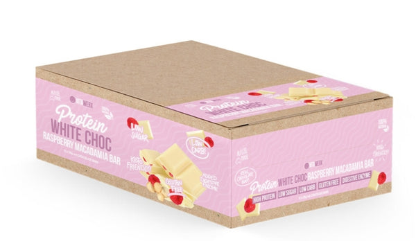 Bulk Buy- Vitawerx -Raspberry Macadamia White Chocolate 35g Bar x12 bars