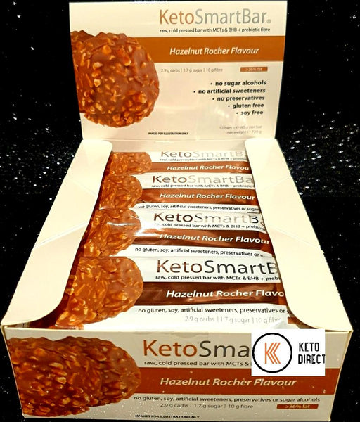 Smart Diet Solutions- (Bulk Buy 12 bars) Keto Smart Bar-Hazelnut Rocher