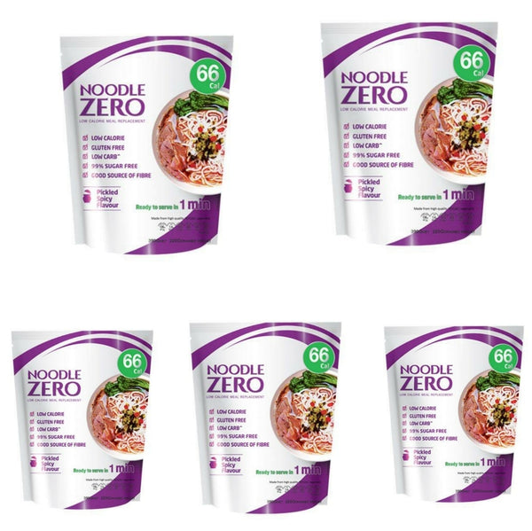 Bulk Buy 5 Pack-Noodle Zero - Pickled Spicy Flavour - Low Calorie (Best Before March 21)