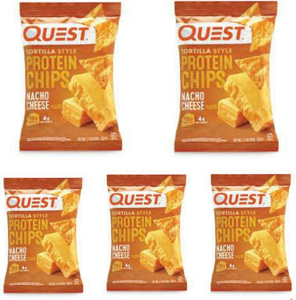 Bulk Buy 5 packs-Quest Nutrition-Nacho Cheese Tortilla Style Protein Chips