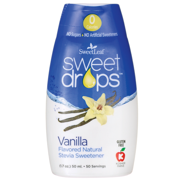 Naturally Sweet-Sweetleaf Stevia Liquid Vanilla Creme Sweet Drop 50ml