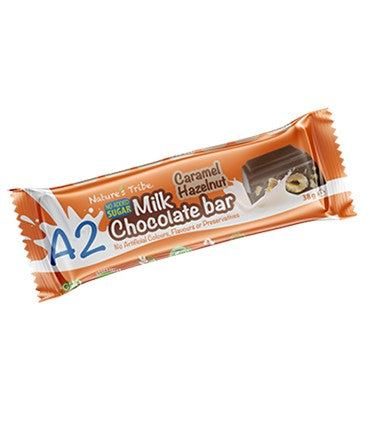 Nature's Tribe - Sugar Free A2 Caramel Hazelnut Milk Chocolate Bar - 38g