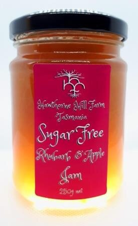 Hawthorne Hill- Sugar Free Rhubarb and Apple Jam 250g