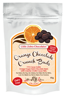 Little Zebra Chocolates- Dark Chocolate Crunch Buds Orange 85g