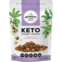 The Monday Food Co- Keto Granola Sweet Crunchy Macadamia Clusters(300g)