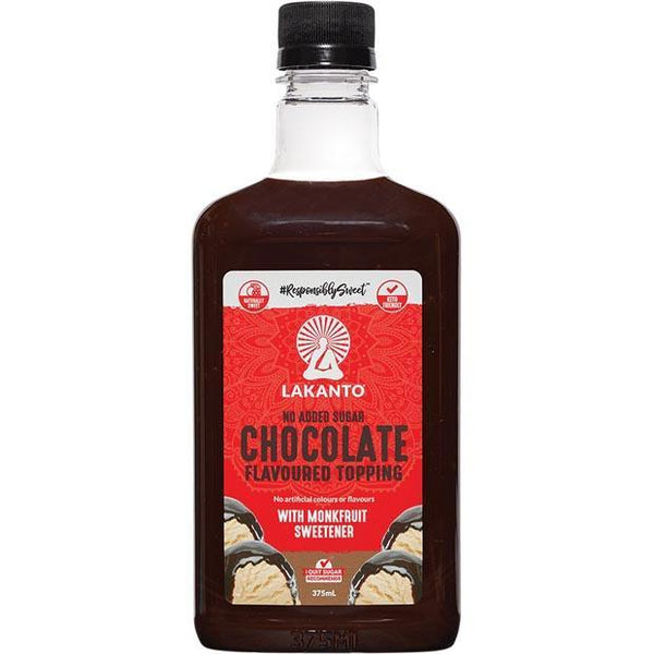 Lakanto-Chocolate Flavoured Topping Monkfruit Sweetener-375ml