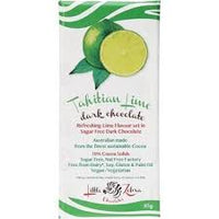 LITTLE ZEBRA CHOCOLATES -Tahitian Lime  Dark Chocolate 85g