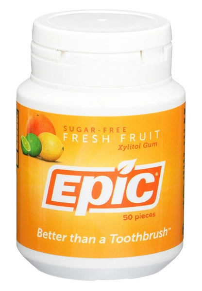 Epic- Xylitol Fresh Fruit Dental Gum 50ct