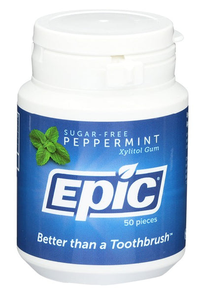Epic- Xylitol Peppermint Dental Gum 50ct