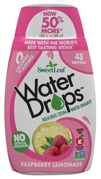 Naturally Sweet-Sweetleaf Stevia Raspberry Lemonade Water Drops 50ml