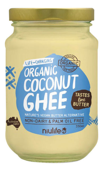 Niulife-Coconut Ghee - Certified Organic 350ml Glass Jar