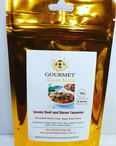 Gourmet Spice Kits- Smokey Beef & Bacon Casserole-50g(12 serves)