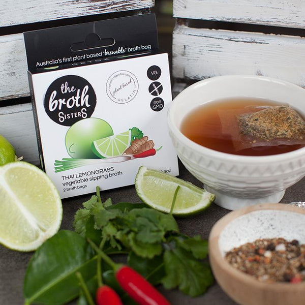 The Broth Sisters-Thai Lemongrass Vegtables Sipping Broth-12g(2 broth bags)