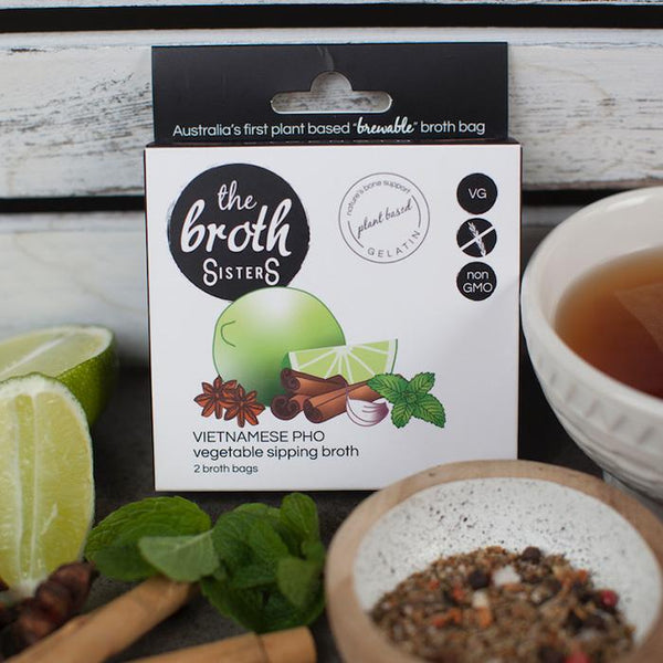 The Broth Sisters-Vietnamese Pho Vegtables Sipping Broth-12g(2 broth bags)