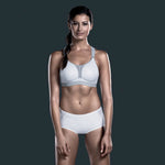 "Anita 5537 Dynamix Star ""WHITE/ANTHRACITE"" Woman's Maximum Support Sport Bra"