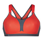 "Anita 5537 Dynamix Star ""RED/ANTHRACITE"" Woman's Maximum Support Sport Bra"