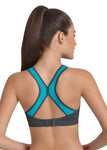 "Anita 5537 Dynamix Star ""Peacock Blue"" Woman's Maximum Support Sport Bra"