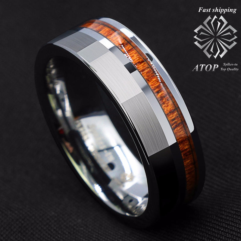 products/8mm-Silver-Brushed-Tungsten-Carbide-Ring-Off-Center-Koa-Wood-Wedding-Band-Ring.jpg