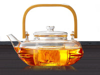 Easy to Use - Borosilicate Glass Teapot & Infuser with Bamboo Handle - 300ml *