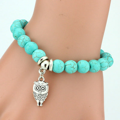 Natural Stone Charm Bracelets:  Life Of Tree-Elephant-Owl-Cross + 5 others *