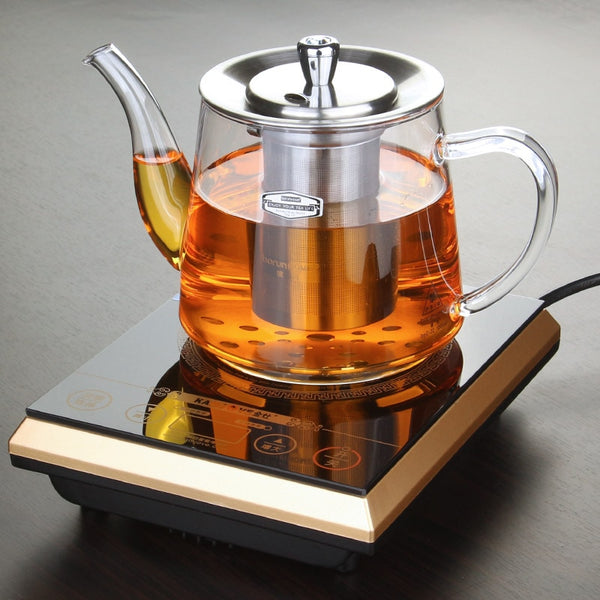 Induction cooker special pot boil tea dedicated cooker glass pot stainless steel liner kettle flower tea pot