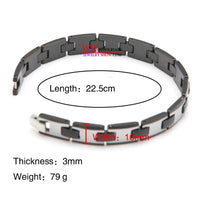 Hot Selling High Polished Unisex Tungsten Steel bracelet Length: 22.5cm
