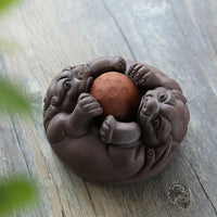 Purple Clay Toad Tea Pets - Five Styles - Some Spinning Ball