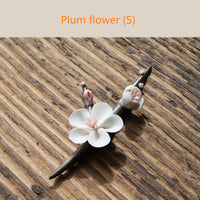 Kungfu Tea Pet Plum Flower for Tea Lovers.  Plum, Magnolia porcelain flowers in three sizes