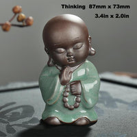Little Buddhist Monk Ceramic Tea Pet - Figurine - Nine Styles