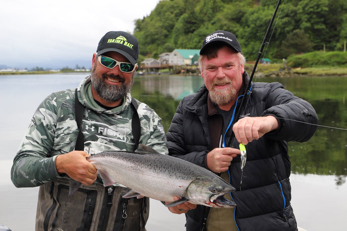 "Trying Out the ""Spinfish"" Salmon Trolling Hardbait Lure with Big Dave & Nick Amato"