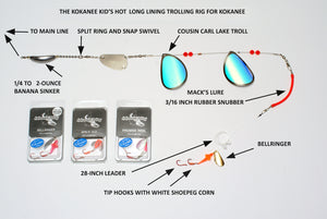 Long Line Trolling Tactics for Kokanee by Larry Ellis