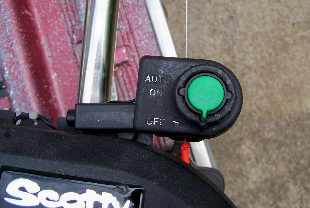 Scotty electrics sensor stops auto retrieve system Special line