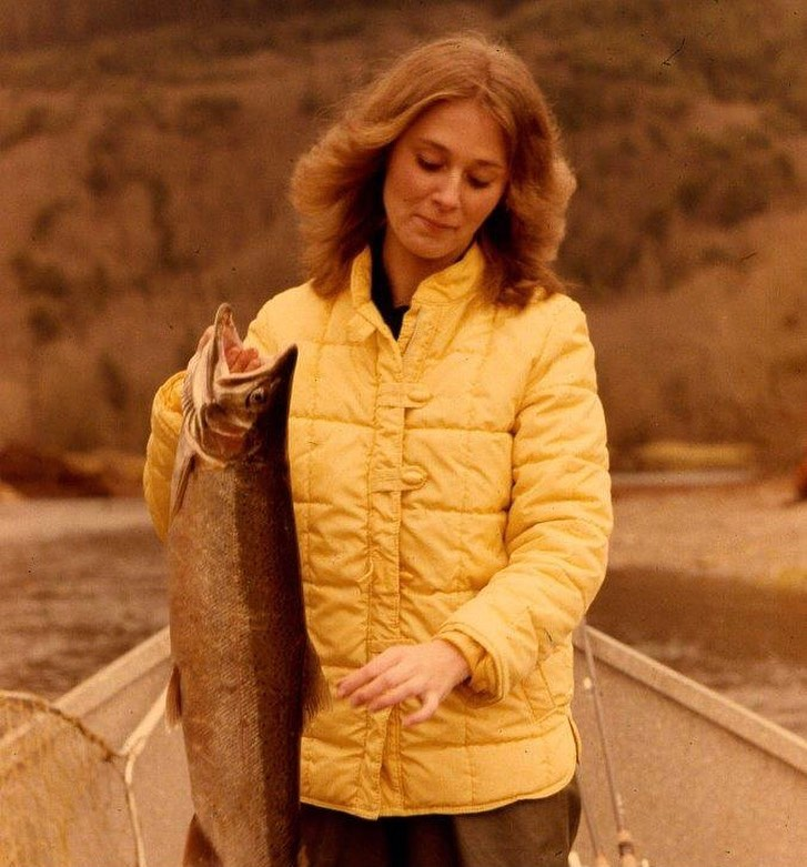 It was February second of 1979 when then girl friend Maggie Wilson caught this winter steelhead from Oregon's Kilches River