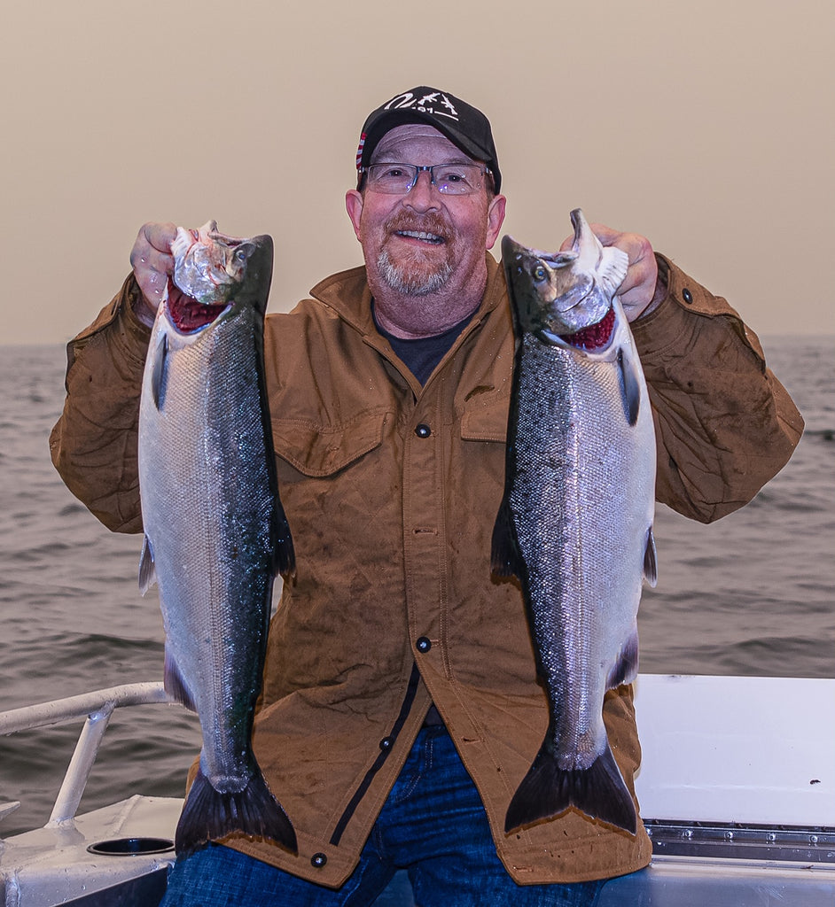 terry weist coho salmon silver fishing
