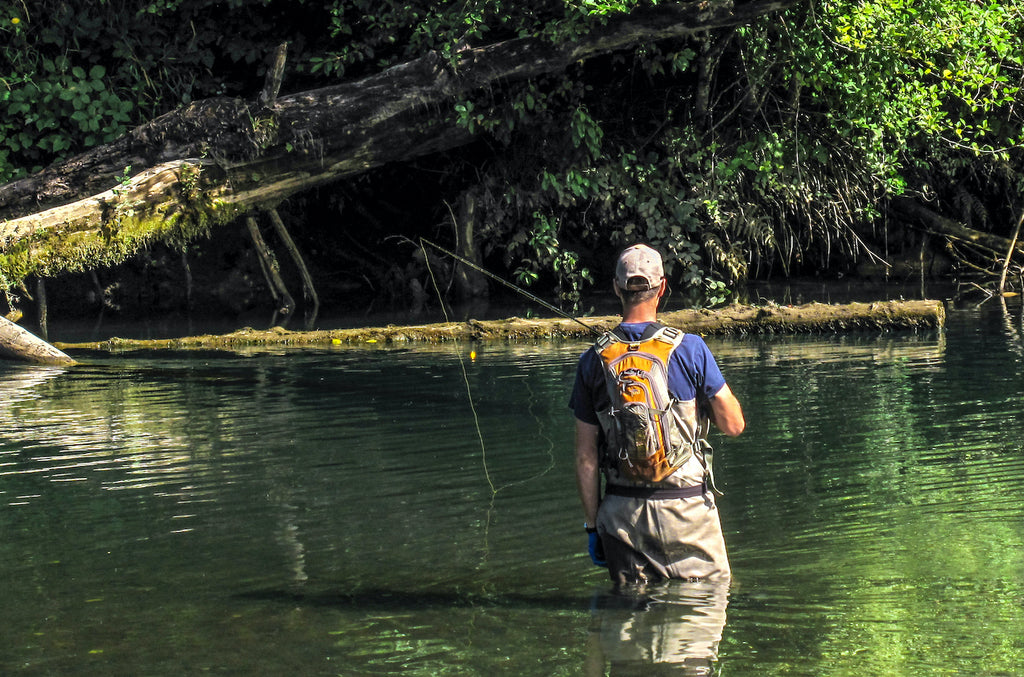 4 Float fishing along a log where fish are taking refuge is often overlooked