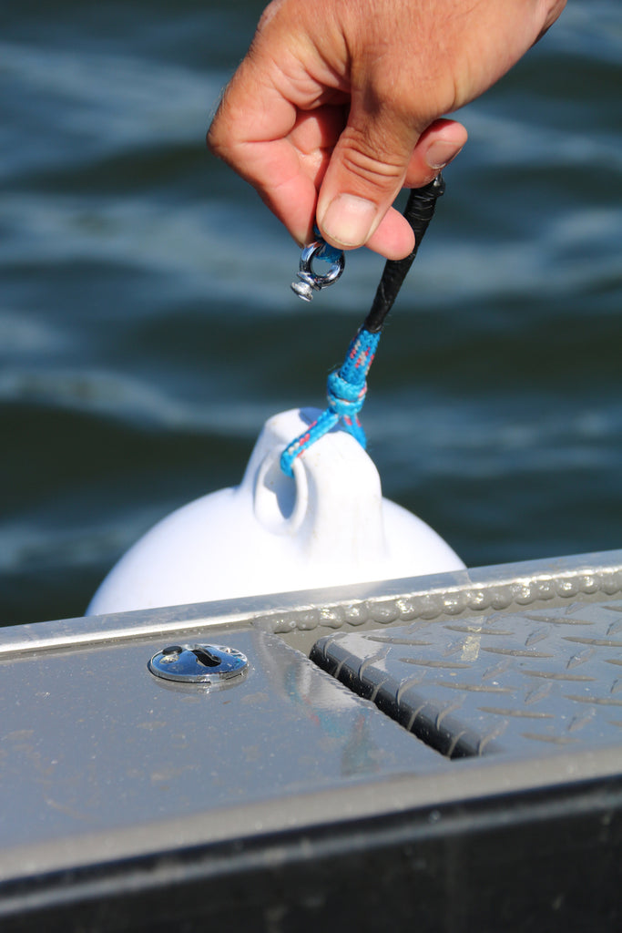 In addition to retractable cleats along the boat, these low-profile, quick-release buoy clips ensure nets and fishing lines don't get tangled, potentially costing anglers time, and often, fish.