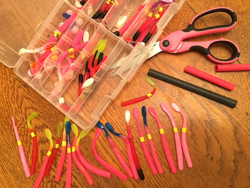steelhead fishing worms pink plastics drift corkie