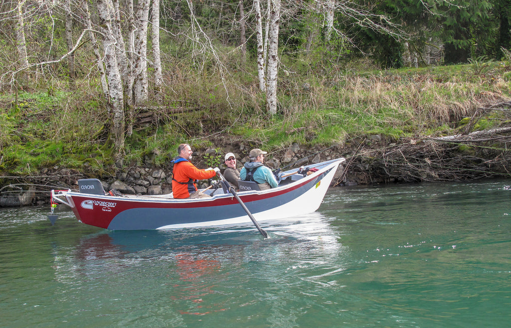 steelhead drift boat plug fishing