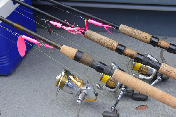 pink coho spinners